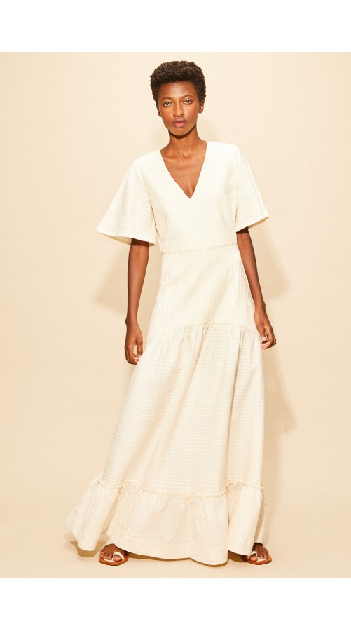 ANIEMEYER VESTIDO SCANDES/OFF-WHITE