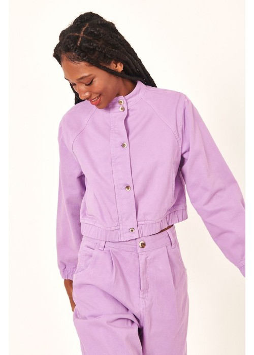 DRESS TO JAQUETA CROPPED COLOR LILAS HUL