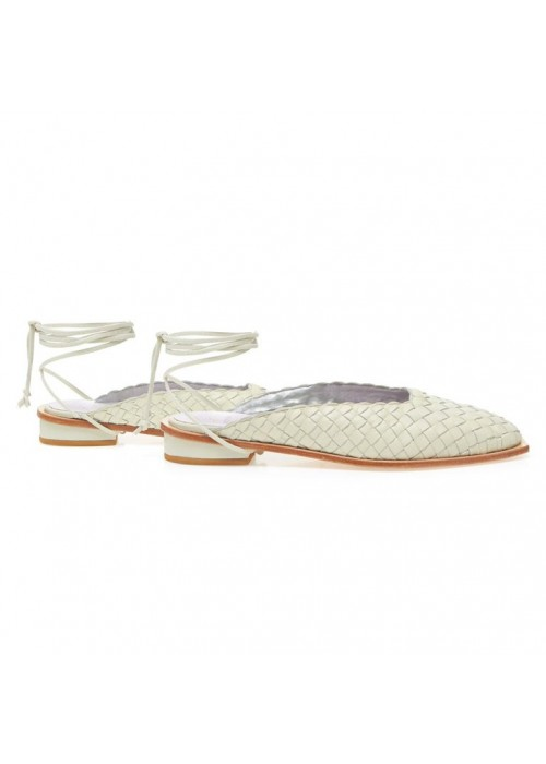 MANOLITA MULE ST TROPEZ OFF WHITE
